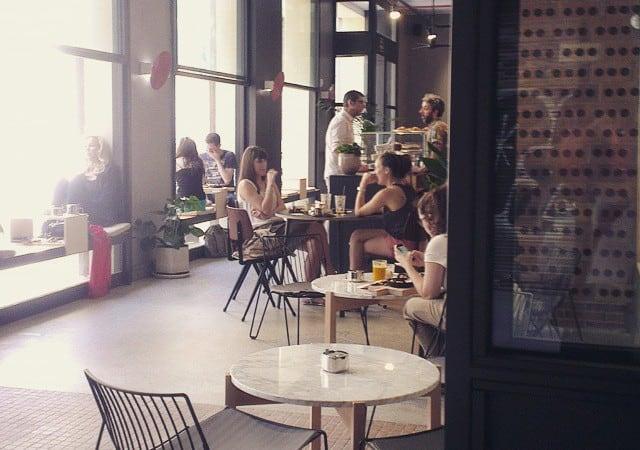 hipster café in Barcelona