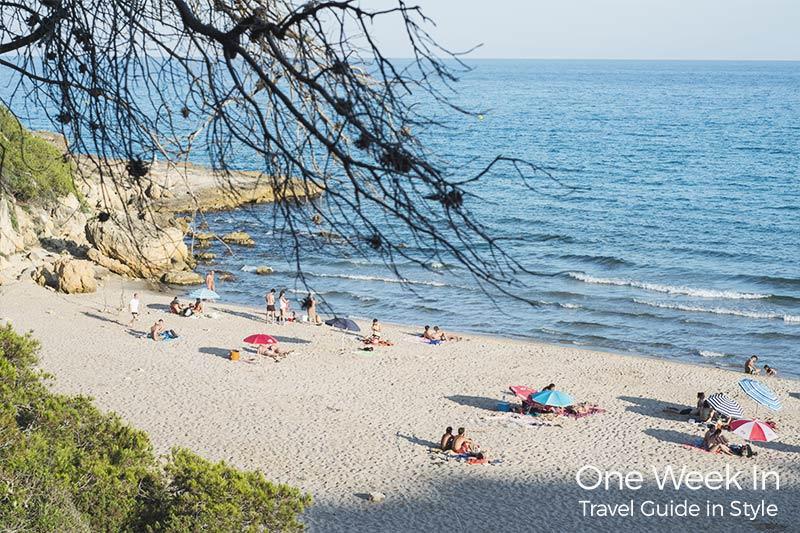 Hidden beach near Barcelona