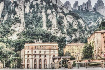Montserrat a sanctuary nearby Barcelona