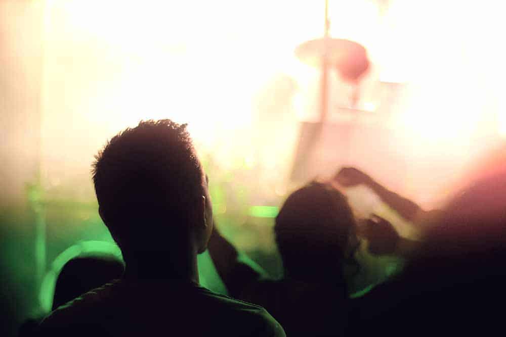 Enjoying a Music concert in Singapore
