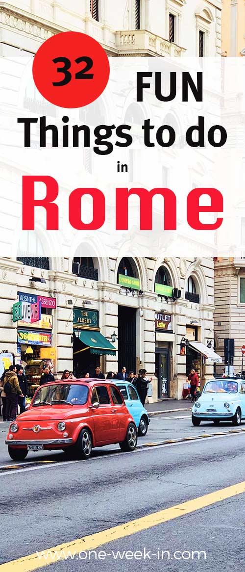 Fun things to do in Rome