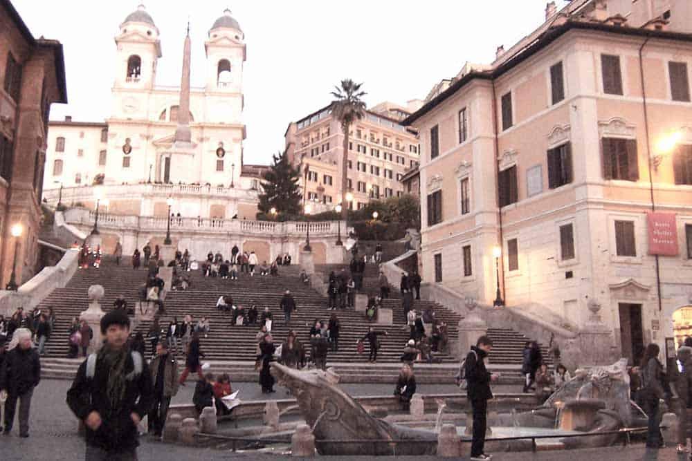 Look around at Spanish stairs Rome