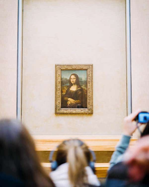 Mona lisa at Louvre Museum, Paris