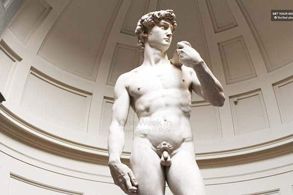 See yourself the famous statue of David by Michaelangelo in Accademia Gallery, Florence