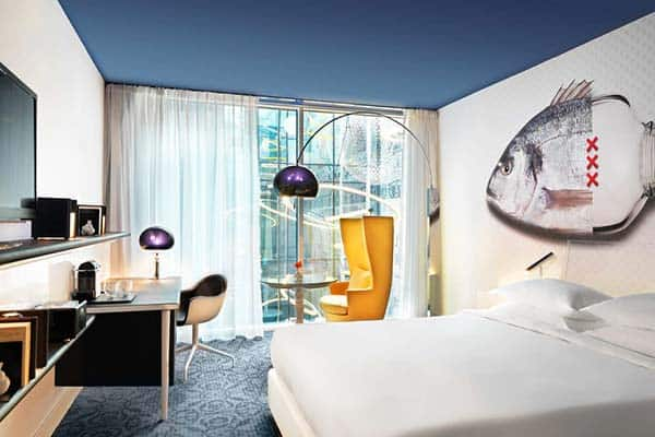 Rooms in Andaz Amsterdam Prinsengracht are uniquely designed by Marcel Wanders