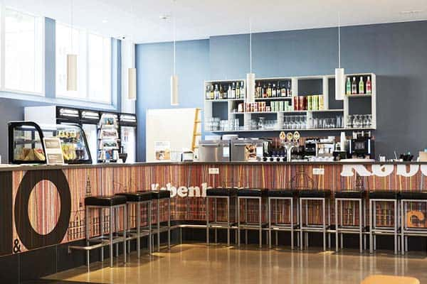 Get your meals and pastries at A&O Copenhagen Norrebro's cafe