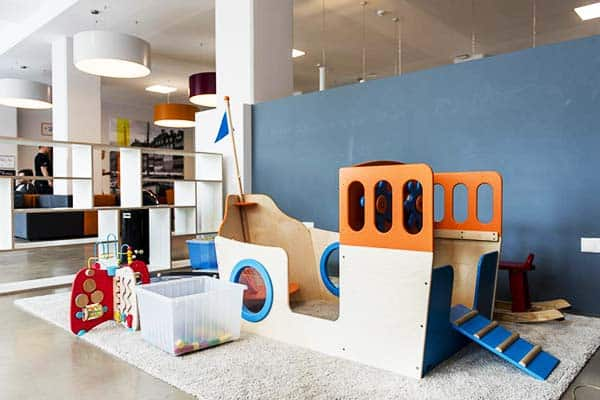 Kids can spend time and have fun at the indoor play area of A&O Copenhagen Norrebro