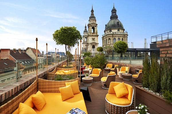 Get a beautiful view of St. Stephen's Basilica from Aria Hotel's terrace
