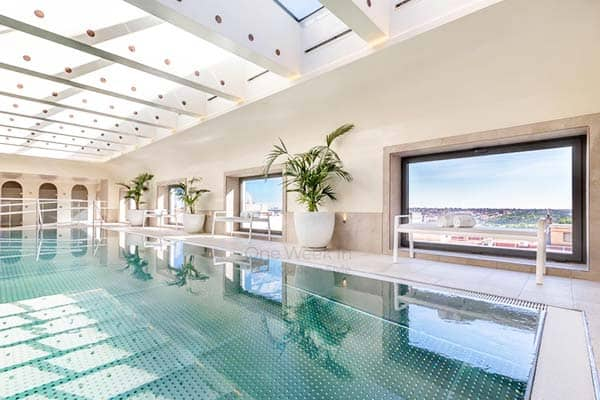 Be amaze with the amazing view of Madrid from the rooftop pool at Barcelo Torre de Madrid