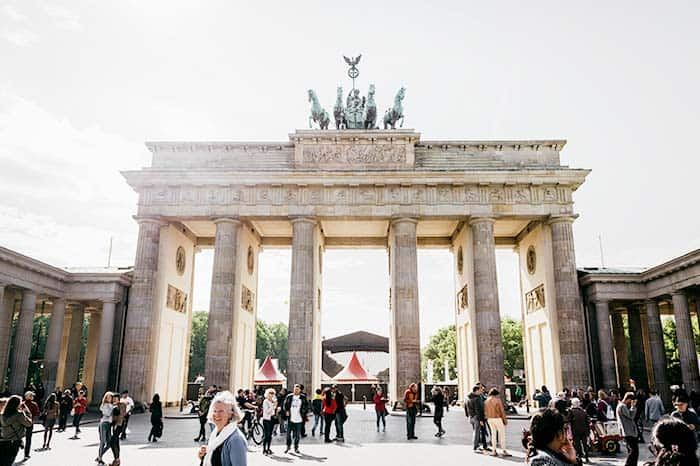 Don't miss out to pass through the iconic Bradenburg Gate, Berlin