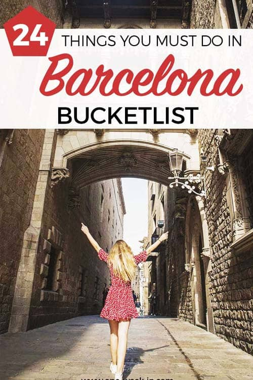 Bucket List for Barcelona