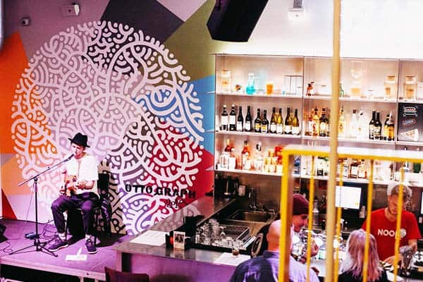 Chill for the night and listen to live music at Clinknoord Hostel Bar