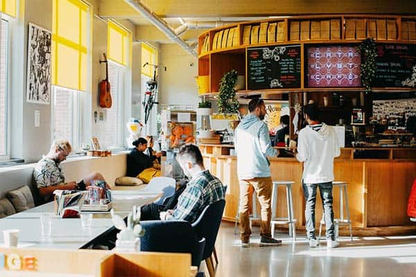 Grab a coffee or a snack at ClinkNoords Hotel's cafe