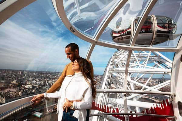 Be amazed by the stunning view of London from the Coca Cola London Eye