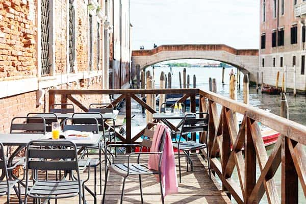 Enjoy the balcony along the canal at Combo Venezia