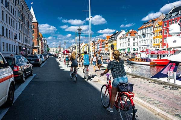 One romantic way to see the Danish Capital is through bikes