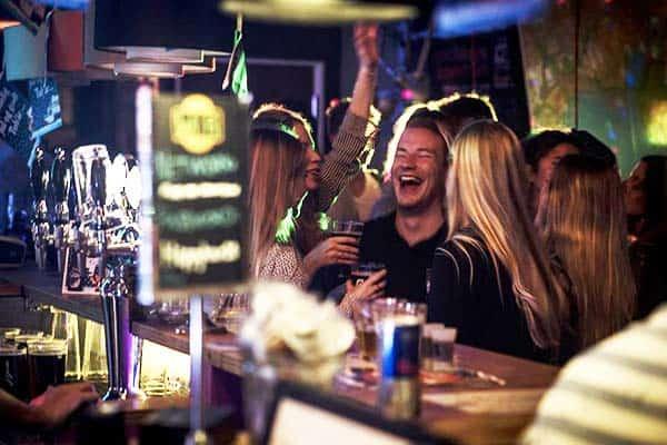 Party with friends or new acquaintances at Copenhagen Downtown Hostel's bar