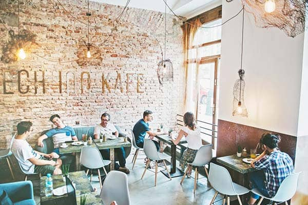 Grab a good coffee or a snack at Czech Inn Hostel's cafe
