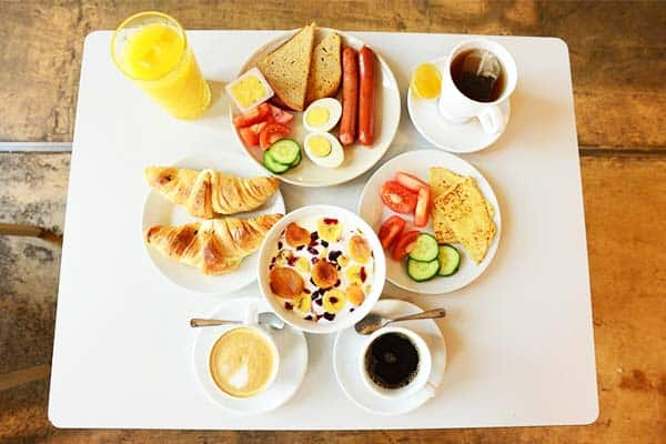 Don't miss out the wonderful buffet breakfast at the Czech Inn Hostel