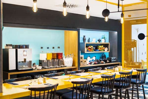 Satisfy your appetite at D8 Hotel's kitchen together with other guests