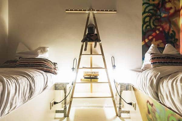 Rooms in Ecomama are installed with a personal light and socket