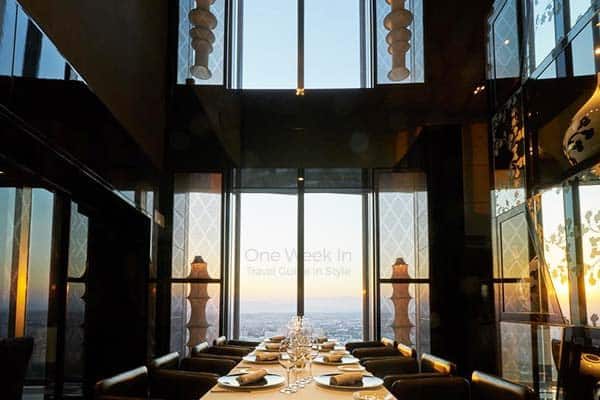 Have a majestic view of Madrid while you eat at Eurostars Madrid Tower Restaurant