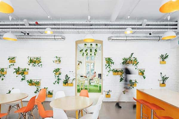 Enjoy the Instagramable ambiance of the Flow Hostel's dining area