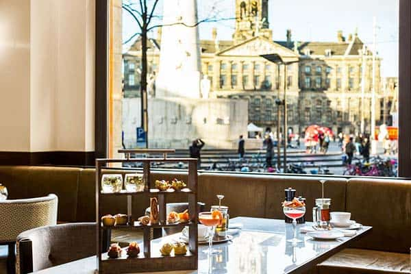 Enjoy the perfect view of the Royal Palace from Grand Hotel Amsterdam