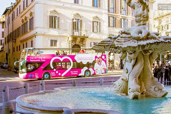 Best for sightseeing: Hop on - Hop off Bus in Rome