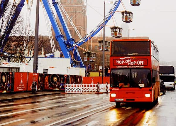 Join the Hop On Hop Off Tour Bus to see the tourist destinations in Berlin