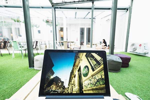 Enjoy and appreciate the outdoors with free WiFi in Hub Lisbon Patio Hostel