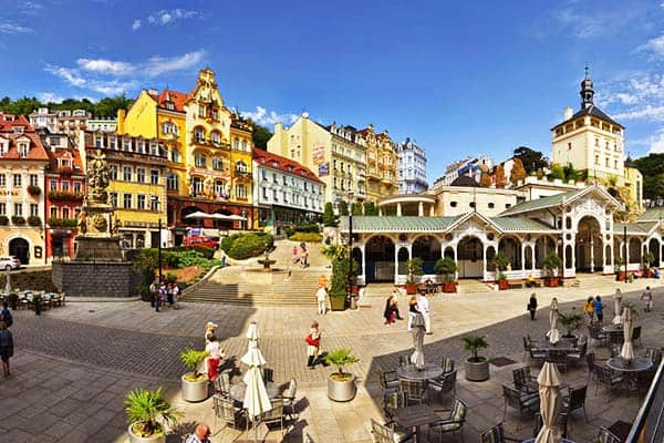 Visit the famous spa town in the Czech Repubic, the Karlovy Vary