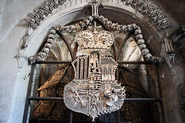 Kill your curiosity and witness yourself the intriguing Sedlec Ossuary and see yourself the Bone Church
