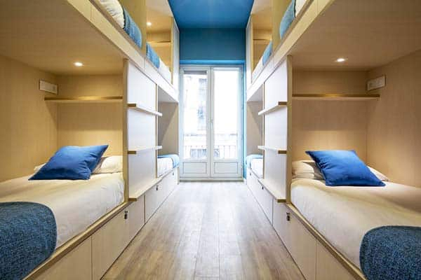 Rooms are equipped with personal sockets and light at MOLA Hostel