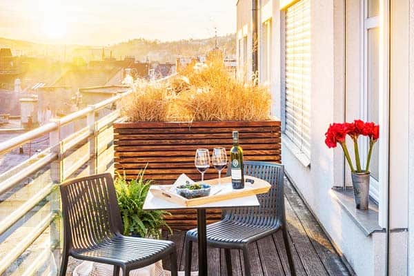 Get wonderful views of Prague from your room at the Mosaic House