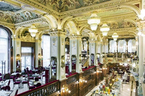 Experience the fine dining at the New York Palace on your one week in Budapest