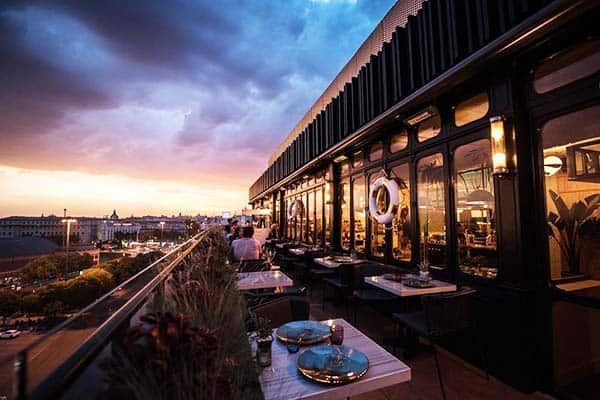 Have a romantic date at Only YOU Hotel Atocha's rooftop restaurant