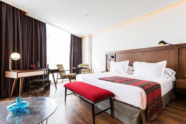Rooms offer great views of Madrid in Only YOU Hotel Atocha