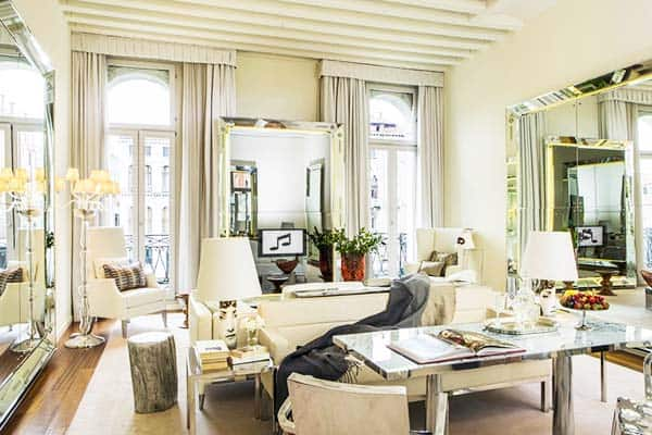 Rooms have a modern design at Palazzina Grassi