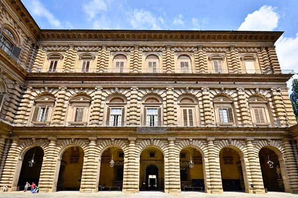 Visit the Palazzo Pitti as one of the largest architectural monuments in Florence