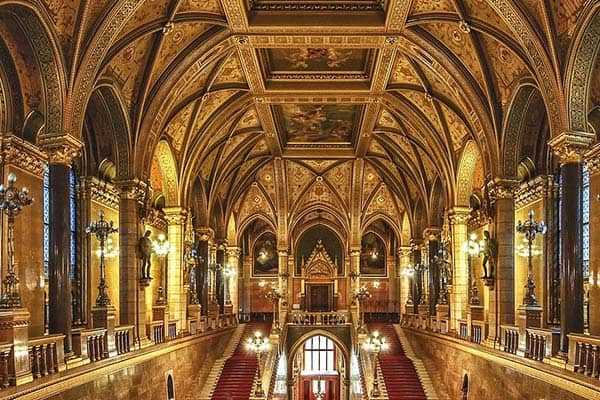Visit the third-largest parliament building in the world in Budapest
