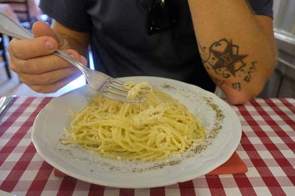 Enjoy the food in Rome