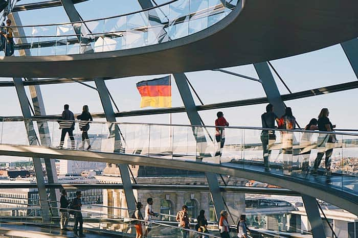 Book with a tour and skip the line and go up the Reichstag Copula