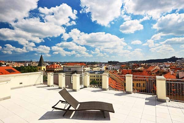 Get a wonderful view of Prague from Salvator Superior Apartments