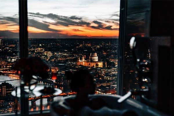 Expect a stunning view of London from your room at Shangri-la Hotel