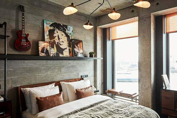Rooms give a perfect view of the IJ River at Sir Adam Hotel Amsterdam