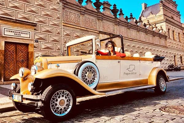 See the amazing Prague in a very unique way on a vintage car