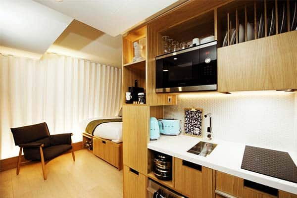 Rooms are equipped with a kitchenette for your convenience at Wilde Aparthotels