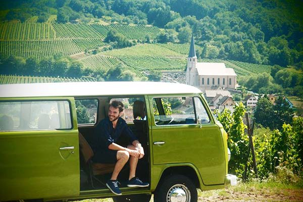 Visit the Alsatian vineyards in a VW bus from Strasbourg