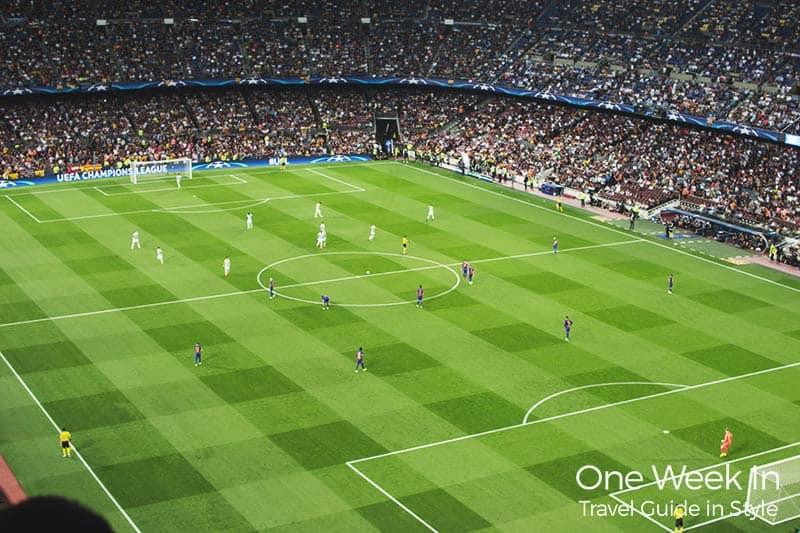 FC Barcelona Home Match at Camp Nou Stadium
